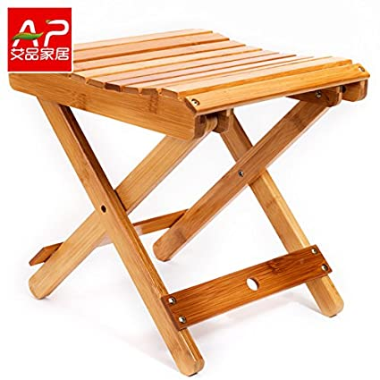 Dana Carrie Nan bambú sillas plegables portátiles Mazar exterior ...