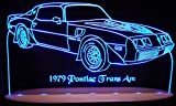 1979 Trans Am Acrylic Lighted Edge Lit Awesome 21'' Oval Wood Base 7 LED Sign Light Up Plaque 79 VVD9 Full Size Made in the USA