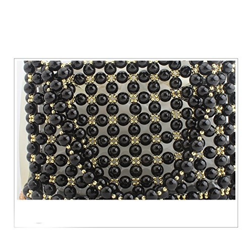 Perle banquet perlé mariage sac partie de dames fait clubs sac les de main soirée sac main pochette sac Black à de pour 0CqrXw0