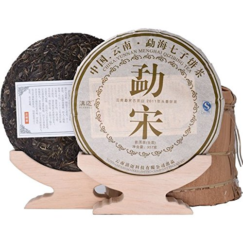 Dian Mai In 2011, the ancient Song Dynasty tree Pu'er tea whole raise 7 cakes 357 g / piece 2499G Kunming 6 years pure dried warehouse old tea 2011年勐宋古树普洱生茶整提7饼 357克/片2499G昆明6年纯干仓老茶 by Dian Mai 滇迈