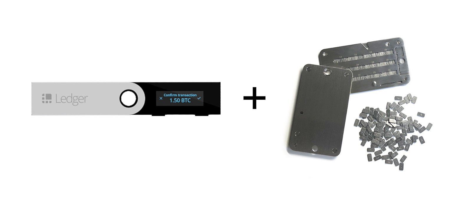 Ledger Nano S Cryptocurrency Hardware Wallet with SteelWallet Cold Seed Storage (2 items) by Ledger (Image #2)