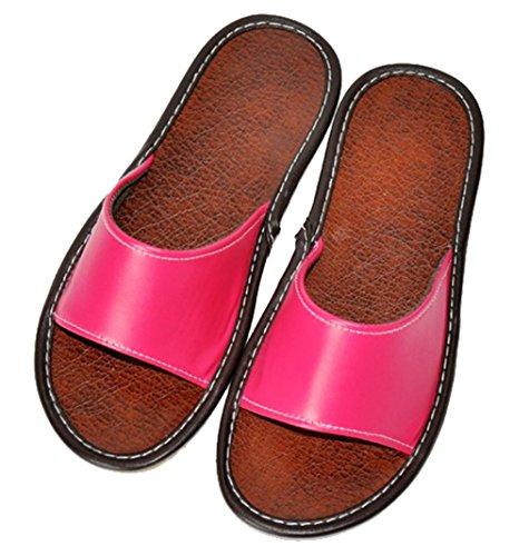 Pantofole Da Donna Cattior Open Toe Pantofole Estive Rosso Rosa