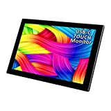 USB Portable Monitor,11.6 inch 1920*1080 Full HD Ips Display,10 Points Capacitive Touch,USB C/HDMI Vedio Input, Extremely Slim 9.8 cm,ALU Body,Bulit in Speakers
