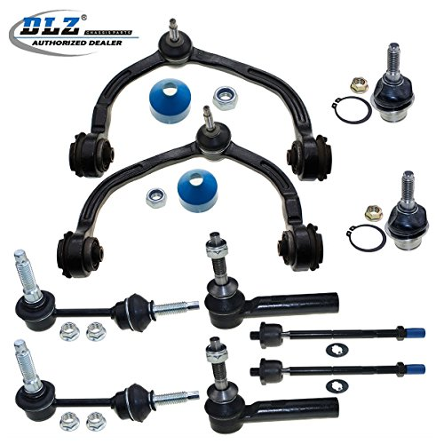 DLZ 10 Pcs Front Suspension Kit-Upper Control Arm Ball Joint Assembly Lower Ball Joint Tie Rod End Sway Bar Compatible with Ford Expedition 2003 2004/Lincoln Navigator 4WD 2003 2004 K80712 EV456 ()