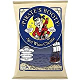 Pirate's Booty to Go Baked Rice and Corn Puffs 0.5 oz Snack Bags, Aged White Cheddar (Box of 36)