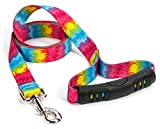 Yellow Dog Design Tie-Dye EZ-Grip Dog Leash-with Comfort Handle-Size Large-1'' Wide and 5 feet (60'') long