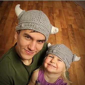 Sharplace Bull H/örnern M/ütze Cap Handgefertigt Strickm/ütze Beanie Winter//Herbst