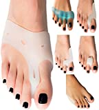 Foots Love – ❤ Bunion Splints – Bunions Toe Straightener, Overlapping Toes. Straighten Pad and Comfort Big Toe Pain. Free Blue Toe Separator First 200. - Lifetime Warranty