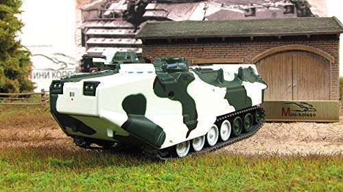 Battle Vehicles of the World AAV-P7/A1 Assault Amphibious Vehicle 1972 Year 1/72 Scale American Diecast Model
