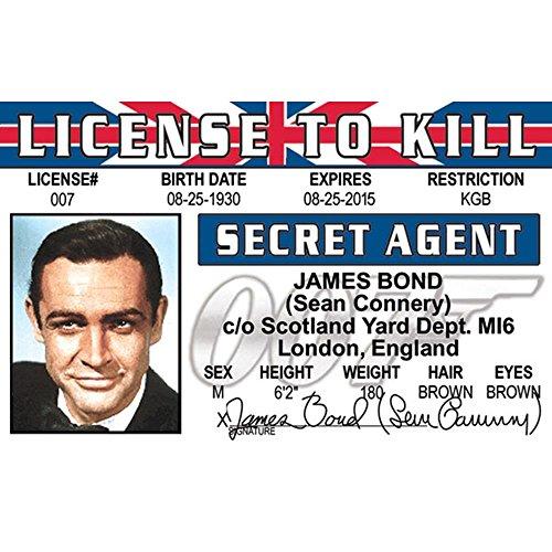 (Signs 4 Fun Njbid Connery's Driver's License)