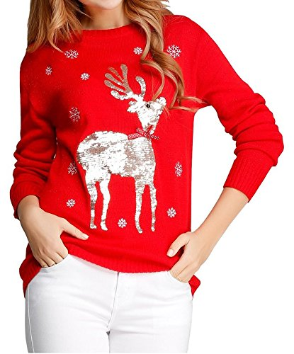 Christmas Shining Reindeer Snowflake