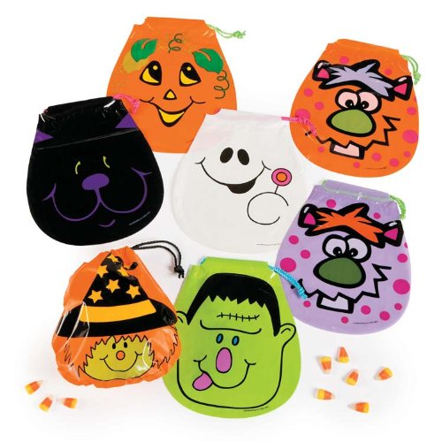 Drawstring Halloween Goody Bags : package of (Old School Disney Costumes)