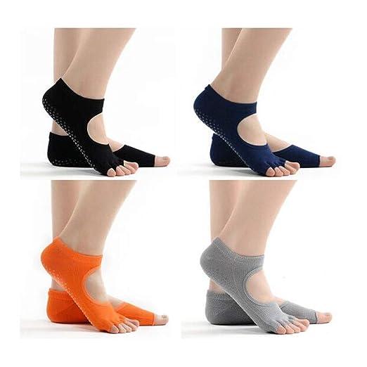 Yougou01 Calcetines de yoga, calcetines de cinco dedos ...