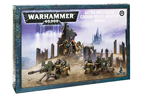 (Games Workshop Warhammer 40,000 Cadian Heavy Weapon Squad)