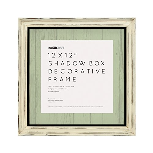 "Kaisercraft SF815 N/A Shadow Box Frame 12""X12""-Antique Wh..."