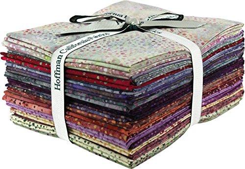 Bali Batiks Bali Dots Paprika 20 Fat Quarter Bundle Hoffman Fabrics 885FQ-389 by Hoffman Fabrics