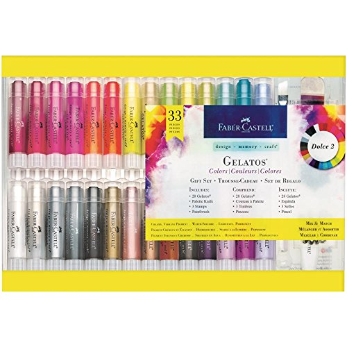 Faber-Castell Gelatos Dolce II Gift Set - 28 Colors - Multi-Purpose Art Medium Set ()