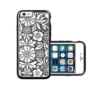 RCGrafix Brand Black Lace Light iPhone 6 Case - Fits NEW Apple iPhone 6
