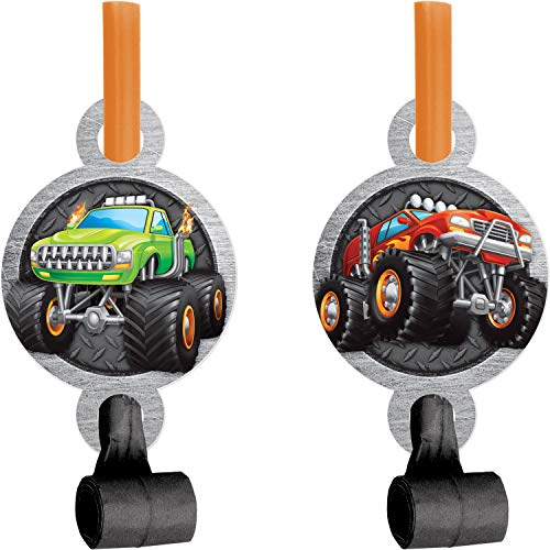 Monster Truck Party Blowers, 24 ct (Monster Jam Party Favors)