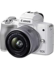 Canon 4729C007 EOS M50 Mark II with EF-M15-45mm, White