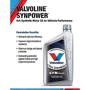 Valvoline 0W-20 SynPower Full Synthetic Motor Oil - 1qt (VV916)