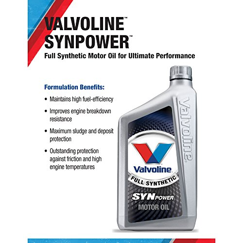 From usa valvoline 10w 30 synpower full synthetic motor for Fully synthetic motor oil