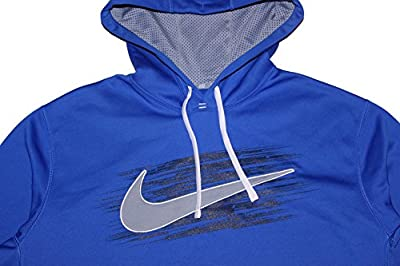Nike Men's KO Swoosh Applique Hoodie Blue Large
