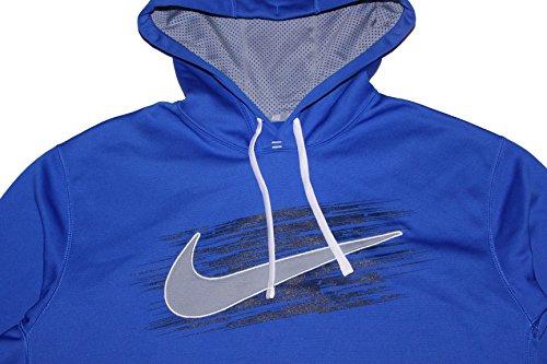 Mens Nike Swoosh Ko Tillämpar Blå Hoodie Bred