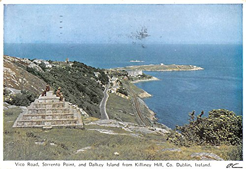 Vico Road, Sorrento Point and Dalkey Island, Killiney Hill Dublin Ireland Postcard