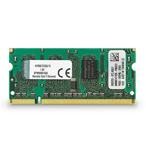 (Kingston ValueRAM 1GB 667MHz DDR2 Non-ECC CL5 SODIMM Notebook Memory)