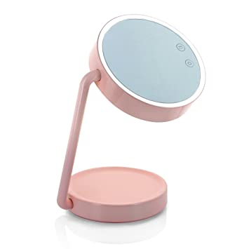 Charmant Tenergy Cordless LED Vanity Mirror Portable Multifunctional Lighted Makeup  Mirror With Cosmetic Tray Battery Powered Desk