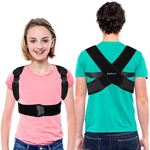 Back Posture Corrector for Kids Over 10, Women, Teens, Adjustable Clavicle Brace Support for Orthopedic Kyphosis Bad Posture, Under Clothes Upper Back Straightener(30