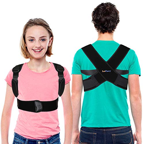 Posture Corrector for Kids and Teens, Upper Back Brace for Clavicle Support, Adjustable Back Straighter for Boys Girls, Under Clothes Spinal Support for Pain Relief from Neck Shoulder Back, Size S