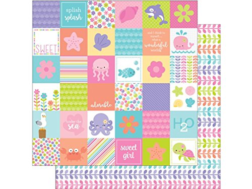 DOODLEBUG UTS Under The Under The Sea Paper 12x12 Coral Reef