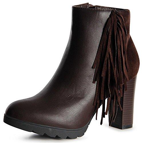 topschuhe24 - Botas para mujer marrón
