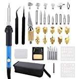 tapered pipe cleaners - 40Pcs Wood Burning Kit, Adjustable Temperature Soldering iron / Leather Pyrography Pen + Embossing/Carving/Soldering Tips +Stencil + Stand + Carrying Case