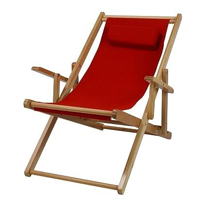 Amazon.com: Ben y Jonah madera Sling silla, Lienzo rojo ...