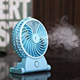 BASSTOP Portable Humidification Cooling Fan Air Handheld USB Mini Fan Personal Cooling Essential Oil Diffuser 2 Speeds for Desk Fan, Office Fan, Table Fan, Quiet Fan, Personal Fan, Small Cooling Fan