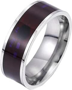 YUYOU Mens Ring NFC Smart Multifunctional Waterproof Magic Digital Ring Smart Home Accessories