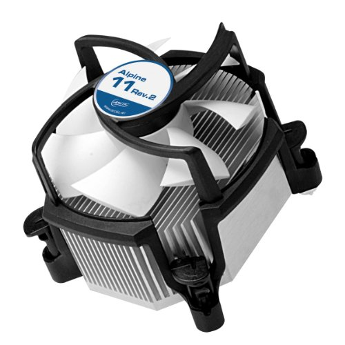 ARCTIC Alpine 11 - CPU cooler for Intel sockets, through 92 mm PWM fan up to 95 Watt cooling performance - With pre-applied MX-2 thermal compound - Simple mounting system