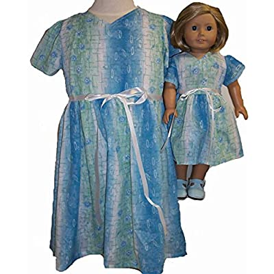 Doll Clothes SuperstoreSize 6 Matching Shades of Blue for Girl and Dolls Dress: Toys & Games