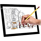 """A4S 9x12"""" Ultra-Thin Portable LED Light Box Tracer USB Power Cable Dimmable Brightness LED Artcraft Tracing Light Pad for Artists Drawing Sketching Animation Designing Stencilling X-ray Viewing"""