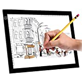 A4S 9x12'' Ultra-Thin Portable LED Light Box Tracer USB Power Cable Dimmable Brightness LED Artcraft Tracing Light Pad for Artists Drawing Sketching Animation Designing Stencilling X-ray Viewing