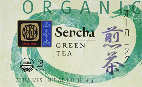 Yamamotoyama Organic Green Tea Sencha, 1.41-Ounce Boxes (Pack of 3)