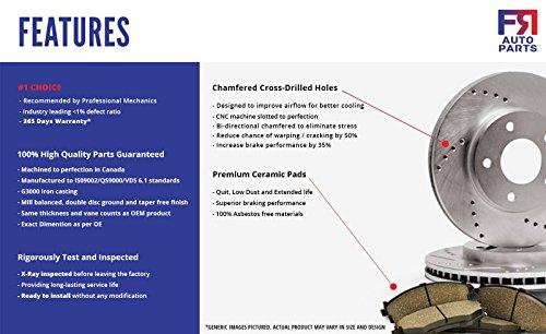 4 Ceramic Pads High-End Front Kit 5lug 2 Brake Rotors For: Dodge Chrysler