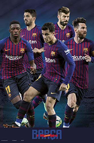 FC Barcelona - Soccer Poster (The Star Players Season 2018/2019) (Size: 24 inches x 36 inches)