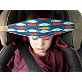 SlumberSling - Number 1. Crash Tested Toddler Car Seat Head Support - Go Fish