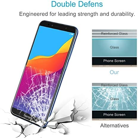 ALICEWU WJH 100 PCS 0.26mm 9H 2.5D Tempered Glass Film for Huawei Honor 7A