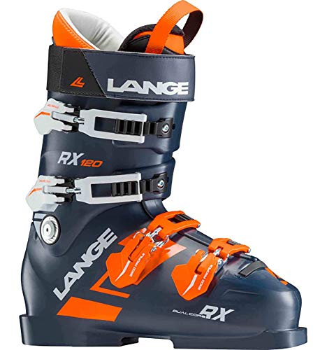 Lange RX 120 Ski Boots Mens Dark Blue/Orange Sz 9.5 (27.5)