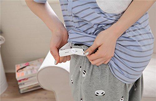 Camicie Infermieristica Femminili Magliette Girocollo Pregnancy L'Allattamento Maglietta Incinta Top Premaman Blu Maternity T Donna AILIENT Corte Eleganti Blusa Maniche Estive Top Shirt wxzABUqI